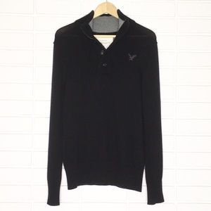 American Eagle | Black Classic Fit Knit Pullover